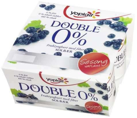 Bilde av Yoplait Dobbel 0% Solbær.