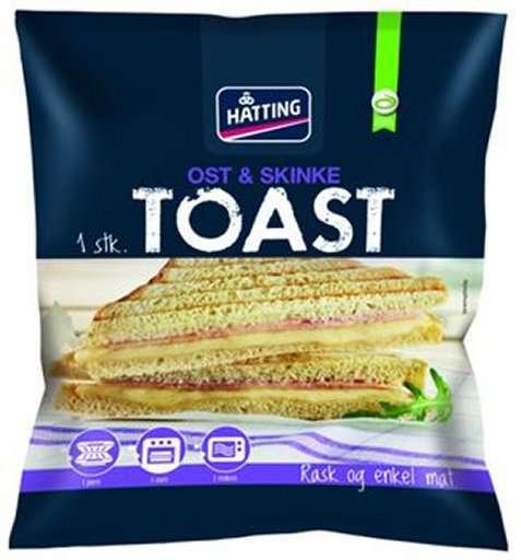 Bilde av Hatting Toast med ost og skinke.