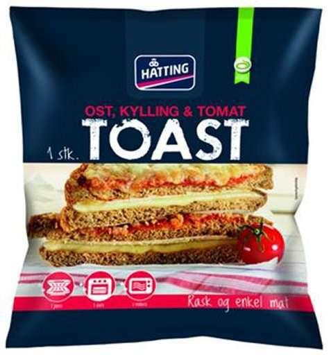 Bilde av Hatting Toast med kylling og tomat.