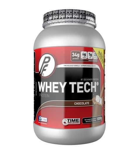 Bilde av Proteinfabrikken Whey Tech Sjokolade proteinpulver.