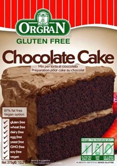 Bilde av Orgran glutenfri sjokoladekakemiks.