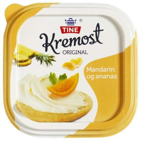 Bilde av Kremost ananas og mandarin.