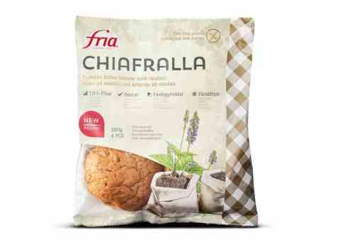 Bilde av Fria glutenfrie rundstykker med chiafrø.