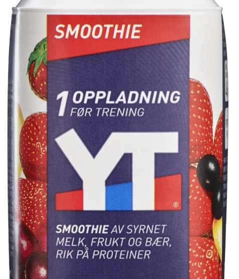 Bilde av Tine YT Proteinrik Smoothie Jordbær/Solbær.