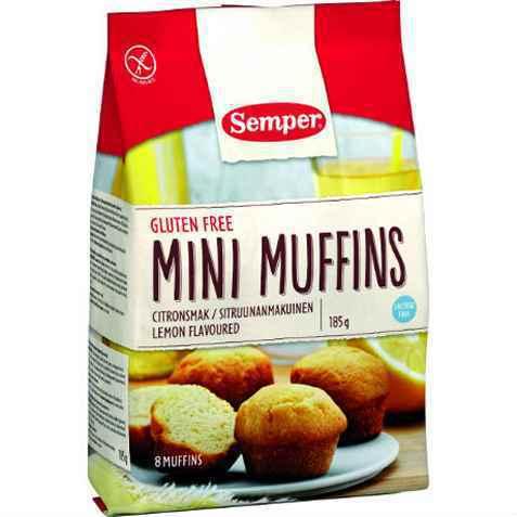 Bilde av Semper Mini Muffins med citronsmak.