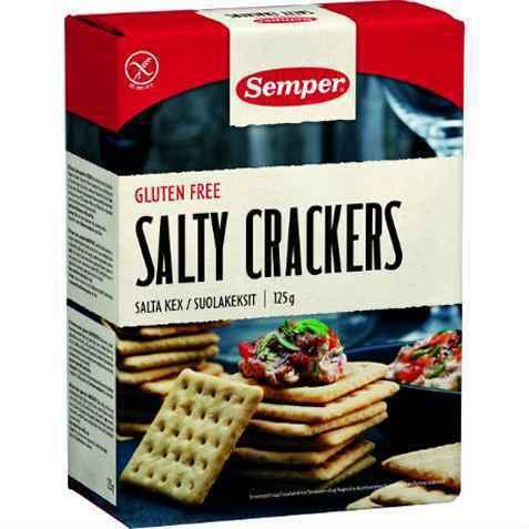 Bilde av Semper Salty Crackers spröda salta kex.