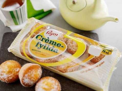 Bilde av Pågen Crèmefyllda muffins med lekker sitroncrème.