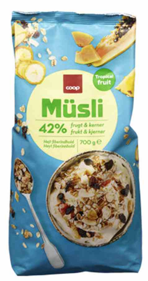 Bilde av Coop musli tropical fruit.