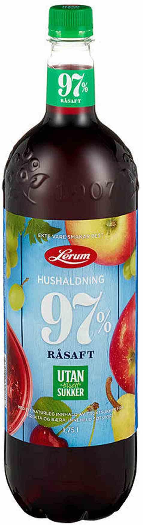 Bilde av Lerum Husholdningssaft uten tilsett sukker 1,75 l.