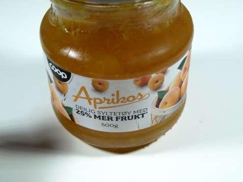 Bilde av Coop aprikossyltetøy.