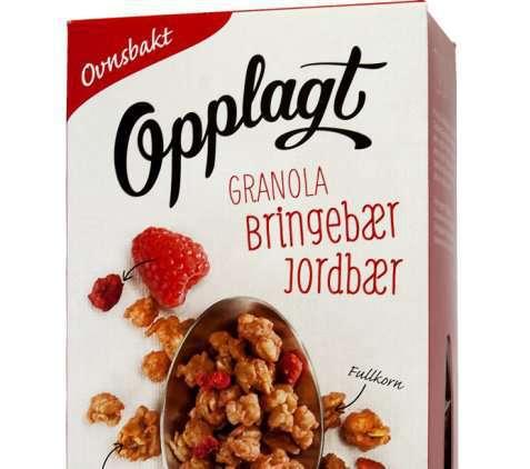 Bilde av Møllerens Opplagt Granola Jordbær & Bringebær.