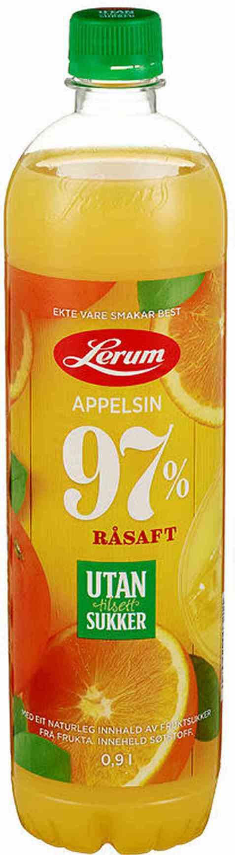 Bilde av Lerum appelsinsaft utan tilsett sukker.