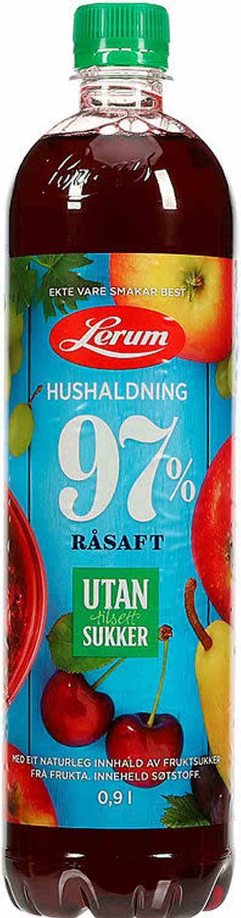 Bilde av Lerum Husholdningssaft utan tilsett sukker 0,9 l.
