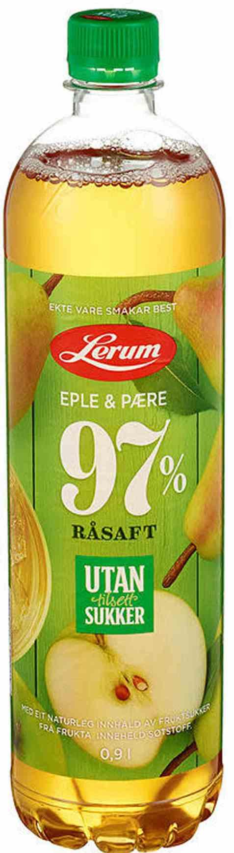 Bilde av Lerum eple-pæresaft utan tilsett sukker.
