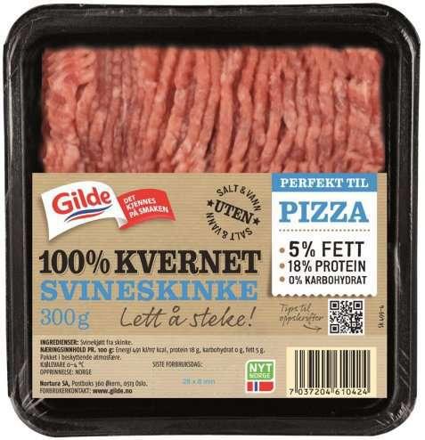 Bilde av Gilde 100 prosent Kvernet kjøtt av svineskinke 5 prosent.