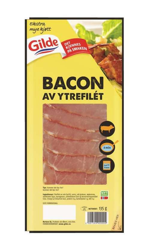 Bilde av Gilde bacon av ytrefilet.
