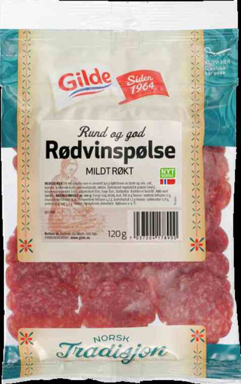 Bilde av Gilde Rødvinspølse.