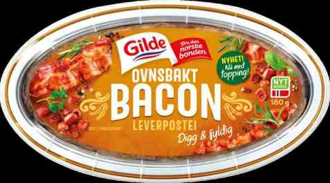 Bilde av Gilde ovnsbakt leverpostei bacon.