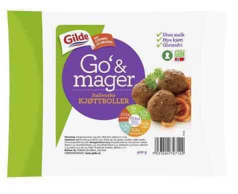 Bilde av Gilde Go og mager Italienske kjøttboller.