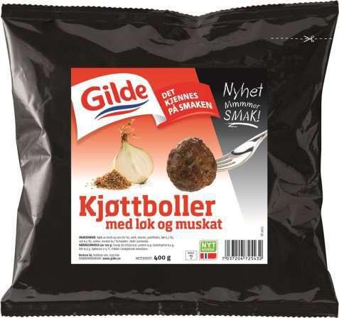 Bilde av Gilde Kjøttboller med løk og muskat.