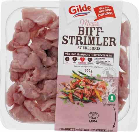 Bilde av Gilde edelgris strimlet svinekjøtt.