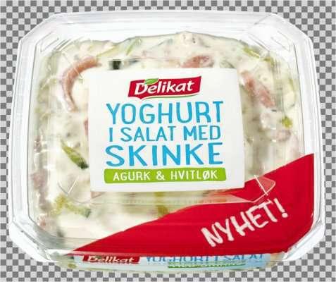 Bilde av Delikat Yoghurt i salat med skinke.