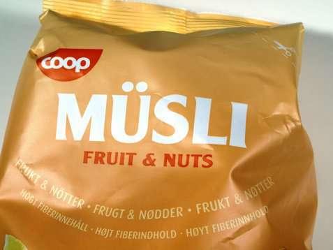 Bilde av Coop musli fruits and nuts.