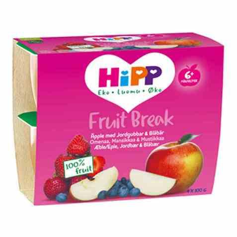 Bilde av Hipp Fruit break eple, jordbær, banan og blåbær.