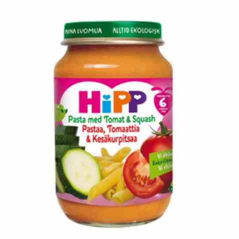 Bilde av Hipp pasta med tomat og squash.