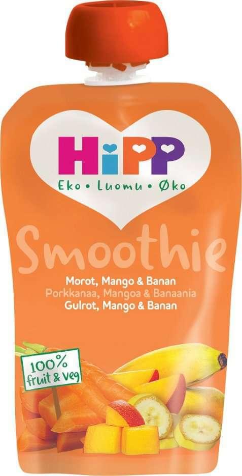 Bilde av HiPP smoothie-banan, pære og mango.
