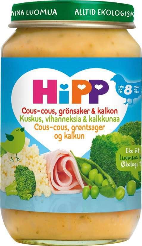 Bilde av Hipp Couscous, Grønnsaker & Kalkun.