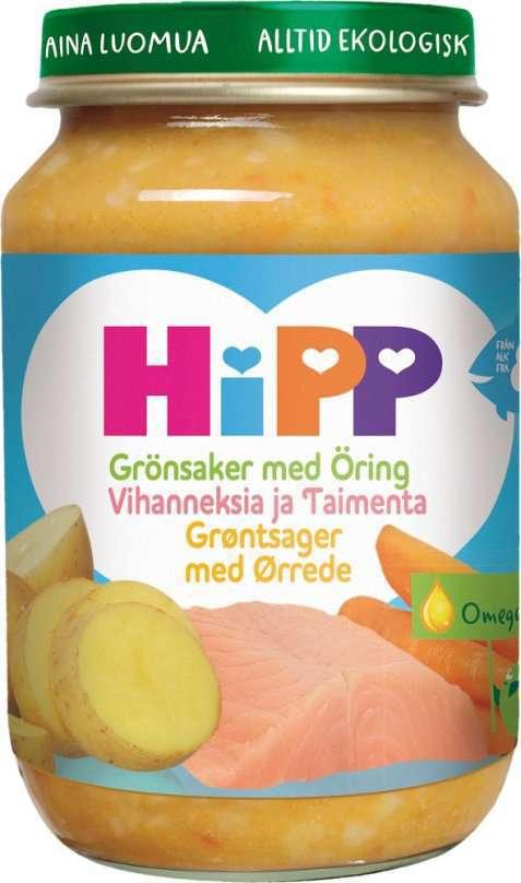 Bilde av Hipp Pappas Grønnsaks og Ørretfavoritt.