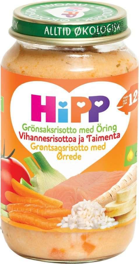 Bilde av Hipp Mammas Grønnsaksrisotto med Ørret.