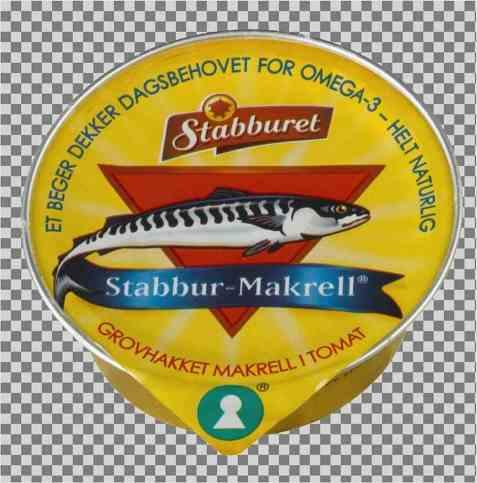 Bilde av Stabbur grovhakket makrellfilet i tomatsaus porsjonspakning.