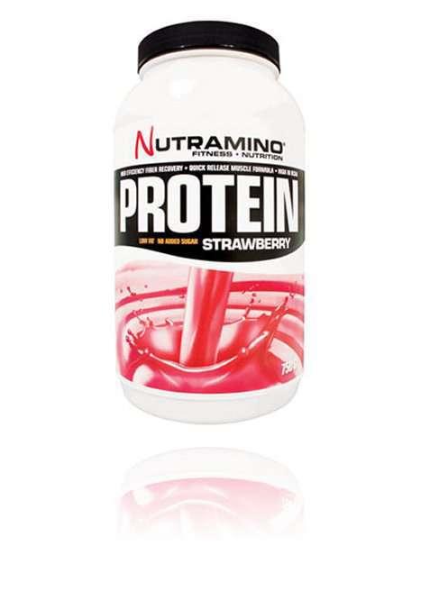Bilde av Nutramino Whey Protein Strawberry 750g.