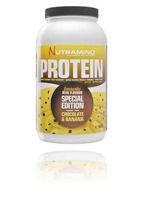 Bilde av Nutramino Whey Protein Chocolate Banana 750g.
