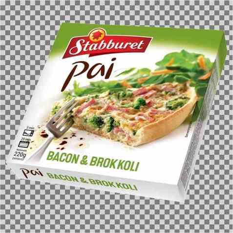 Bilde av Stabburet pai stor bacon og brokkoli.