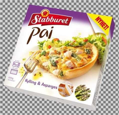 Bilde av Stabburet kylling og aspargespai.