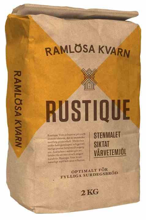 Bilde av Ramløsa Kvarn Rustique stenmalet siktet vårhvetemel.