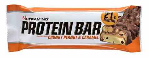 Bilde av Nutramino Proteinbar Chunky Peanut & Caramel.