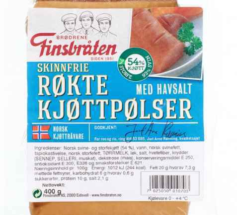 Bilde av Finsbråten røkte kjøttpølser med havsalt.