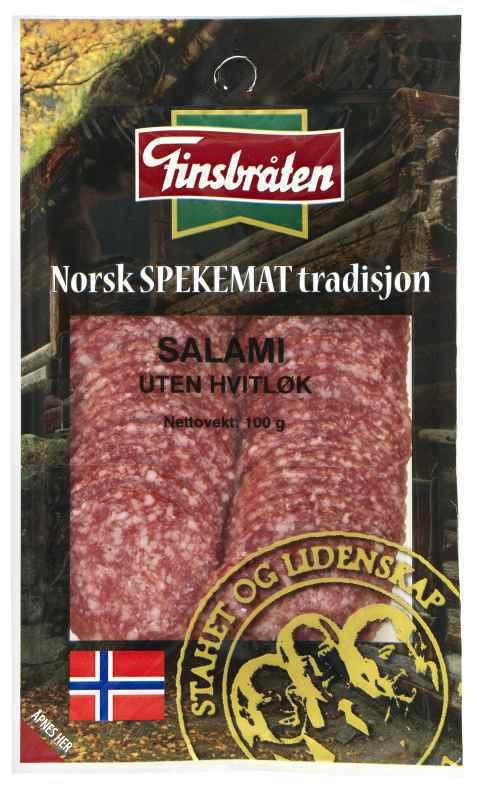 Bilde av Finsbråten salami uten hvitløk.