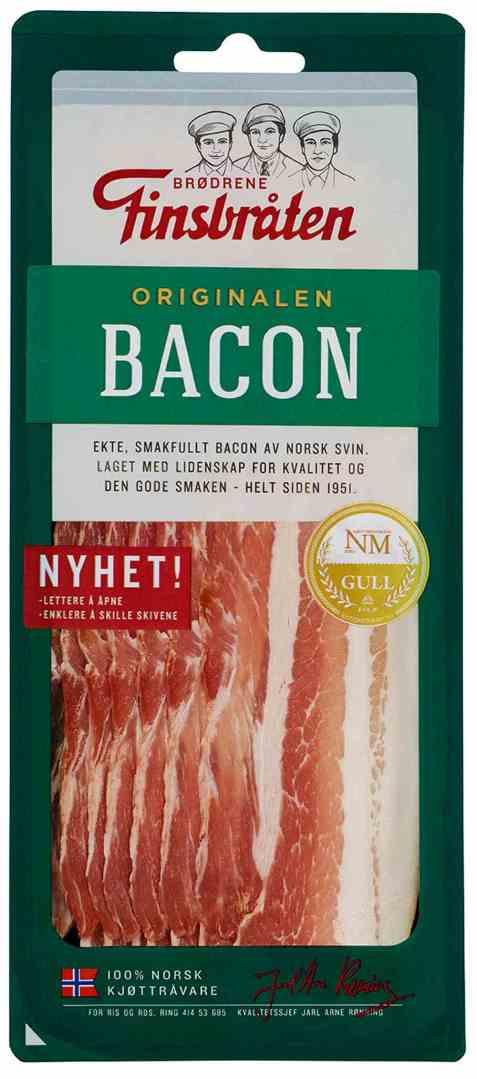 Bilde av Finsbråten bacon i skiver.