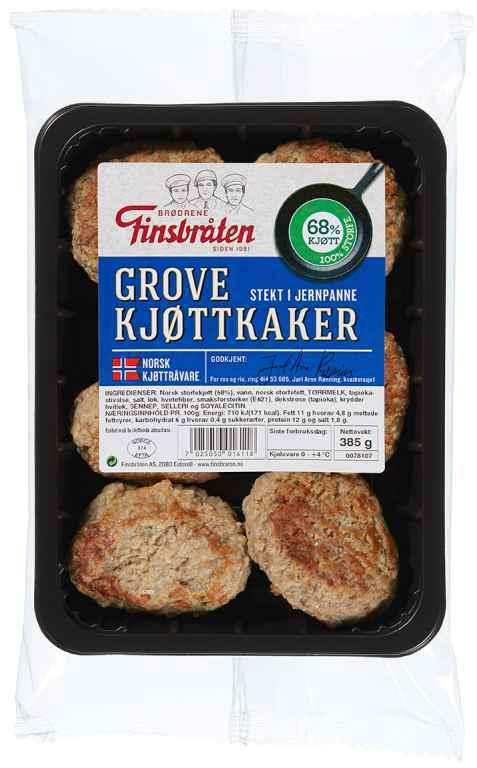 Bilde av Finsbråten grove kjøttkaker.