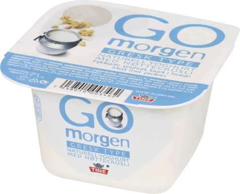 Bilde av Tine Go morgen Gresk type naturell yoghurt med nøttecrusli.