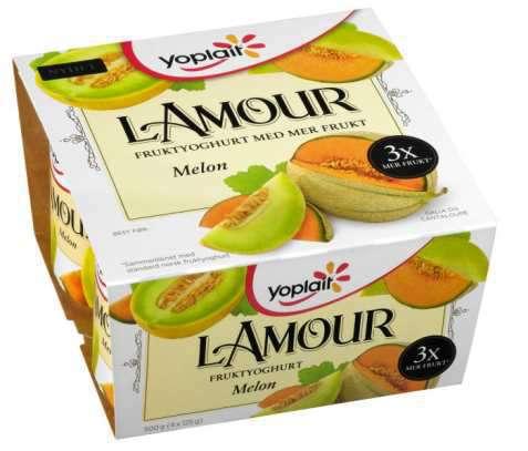 Bilde av Yoplait Lamour fruktyoghurt med melon.