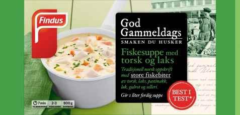 Bilde av Findus God Gammeldags Fiskesuppe med Torsk og Laks.
