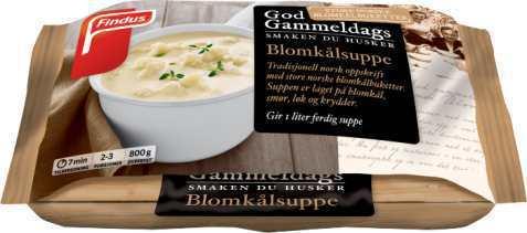 Bilde av Findus God Gammeldags Blomkålsuppe.