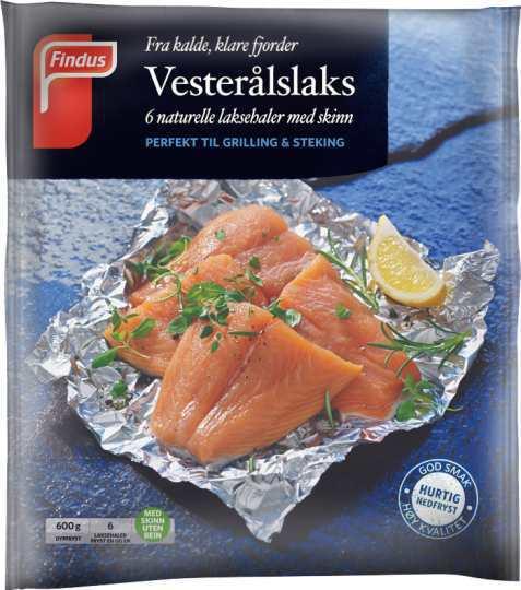 Bilde av Findus Vesterålslaks laksehaler med skinn.