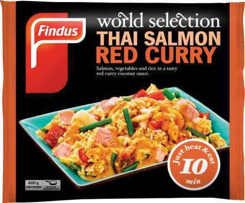 Bilde av Findus Thai Salmon Red Curry.